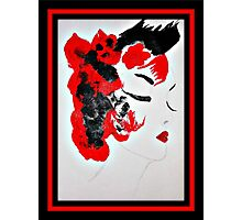 Funky Geisha Girl Photographic Print