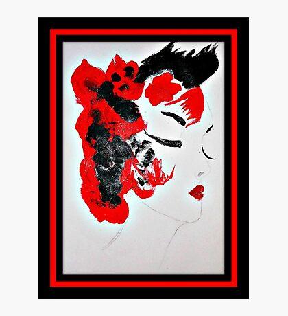 Funky Geisha Girl Photographic Print