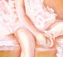 LITTLE BALLERINA AT REST PAINTINGS BY CAROLE SPANDAU Sticker