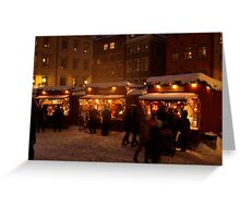 Christmas market in Gamla Stan Greeting Card
