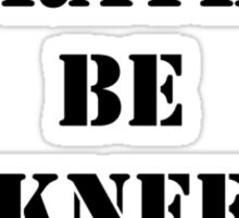 Right Now, I'd Rather Be Knee Boarding - Black Text Sticker