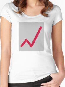 Chart statistics icon Women's Fitted Scoop T-Shirt