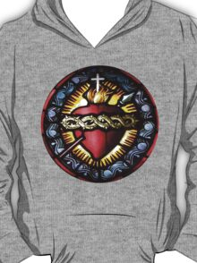 Stain Glass Sacred Heart 2 T-Shirt