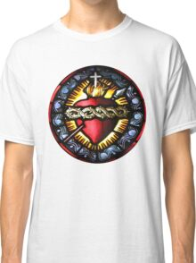 Stain Glass Sacred Heart 2 Classic T-Shirt