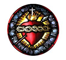 Stain Glass Sacred Heart 2 by BadBehaviour