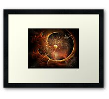 Born in the Vortex - The New Machine Framed Print