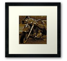 My Harley - Davidson   -  Road to Hell . Brown Sugar Story.  Views 2161 .thank you ! Hold Your Memories. Buy what you like! Framed Print