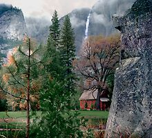 Yosemite Church and Falls by Jim Sells