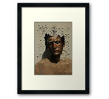 Sad Boy Portrait Framed Print