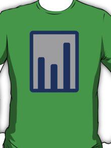 Chart statistics icon T-Shirt