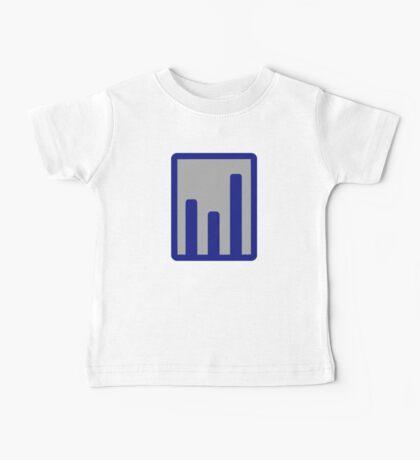 Chart statistics icon Baby Tee