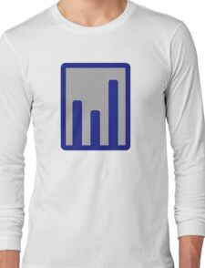 Chart statistics icon Long Sleeve T-Shirt