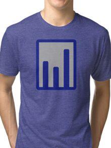 Chart statistics icon Tri-blend T-Shirt