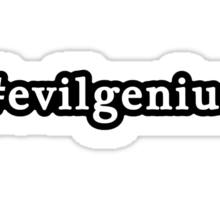 Evil Genius - Hashtag - Black & White Sticker