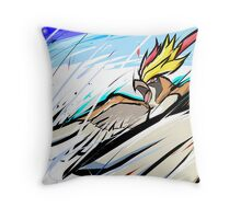 Mega Pidgeot   Hurricane Throw Pillow