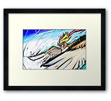 Mega Pidgeot | Hurricane Framed Print