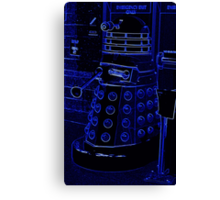 Neon Blue Dalek Canvas Print