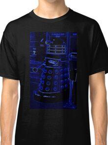 Neon Blue Dalek Classic T-Shirt