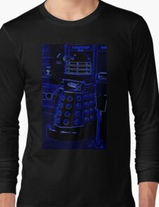 Neon Blue Dalek Long Sleeve T-Shirt