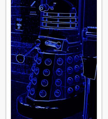 Neon Blue Dalek Sticker