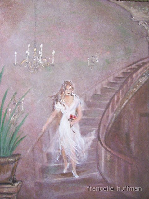 lady on the stairs  by francelle  huffman