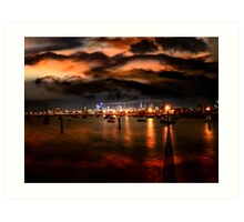 Storm Warning in Melbourne Art Print