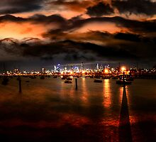 Storm Warning in Melbourne by Steven  Sandner