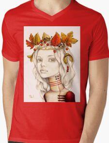 Autumn Feast Mens V-Neck T-Shirt