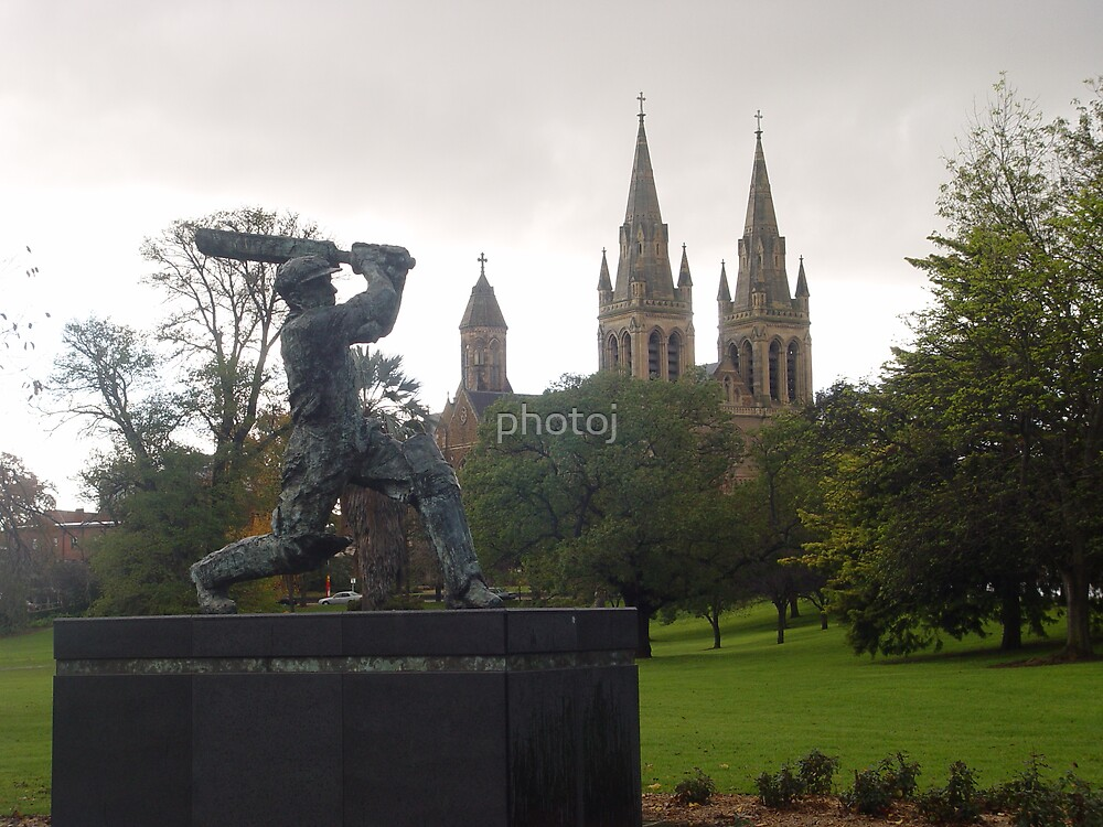 photoj S.A. Adelaide Oval, 'Sir Bradman' ,Statue by photoj