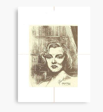 MARILYN MONROE ON A RAINY DAY Canvas Print