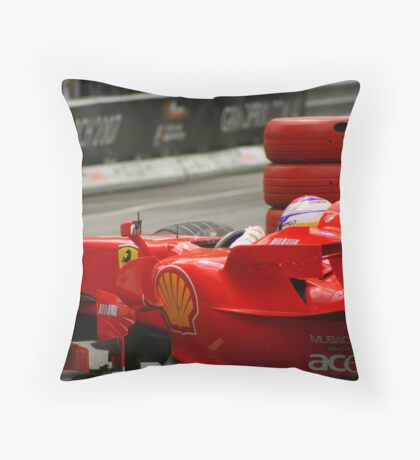 F1 Ferrari  Throw Pillow