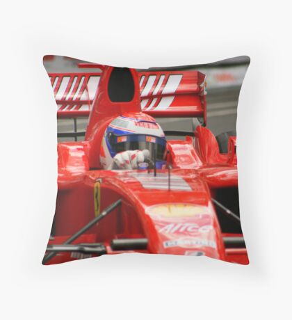 F1 Ferrari 2 Throw Pillow