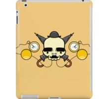 Gentleman Skull (with clocks) iPad Case/Skin