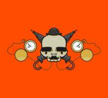 Gentleman Skull (with clocks) Kids Tee