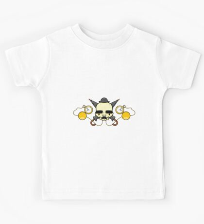 Gentleman Skull (with clocks) Kids Tee