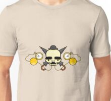 Gentleman Skull (with clocks) Unisex T-Shirt