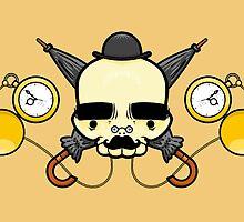 Gentleman Skull (with clocks) by crabro