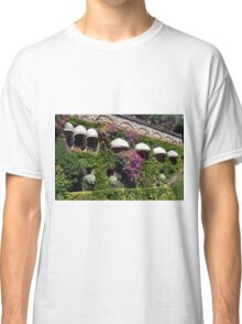 Vegetation on a facade with sun round canopies  Classic T-Shirt