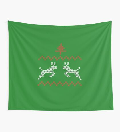 Knit design Christmas Wall Tapestry