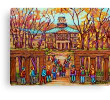 MCGILL UNIVERSITY RODDICK GATES MONTREAL PAINTINGS CANADIAN SCENES BY CAROLE SPANDAU Canvas Print