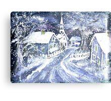 SNOWY VILLAGE CHRISTMAS SCENE Metal Print