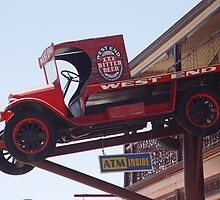photoj South Australia, country hotel-truck in the air by photoj
