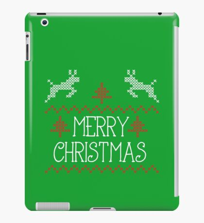 Merry Christmas knit design iPad Case/Skin