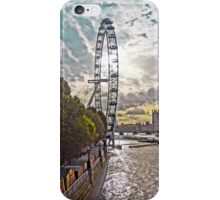 Looking along the South Bank towards the London Eye, by Tim Constable iPhone Case/Skin