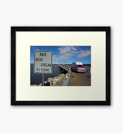 Taking The Piss Framed Print