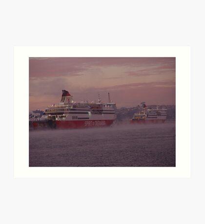 australia-tasmania devonport ferry Art Print