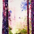 Abstract pine tree watercolour drawing by Susan Wellington