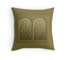 Mother And Son (gold) Throw Pillow