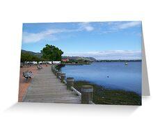 Lake Rotorua, New Zealand Greeting Card