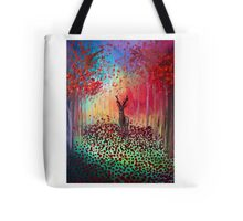 Deer in a poppy field  Tote Bag